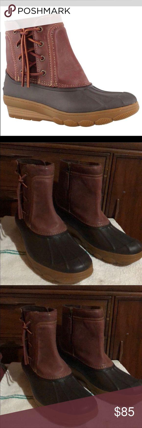 Nwot Sperry Saltwater Duck Rain Snow Boots 11  Boots -8746