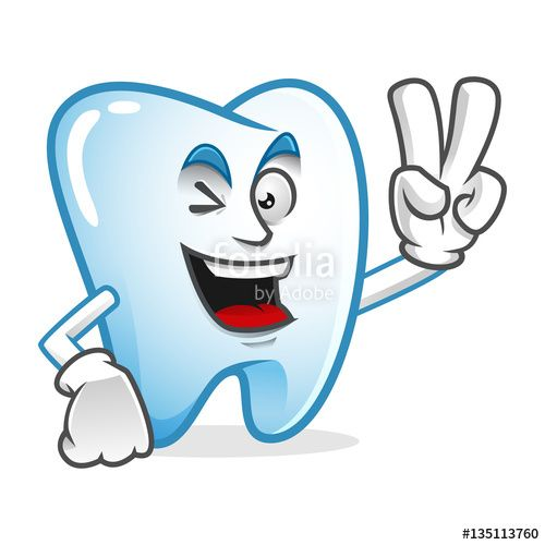 """Download the royalty-free vector """"Peace tooth mascot, Victory tooth character, tooth cartoon vector """" designed by IronVector at the lowest price on Fotolia.com. Browse our cheap image bank online to find the perfect stock vector for your marketing projects!"""