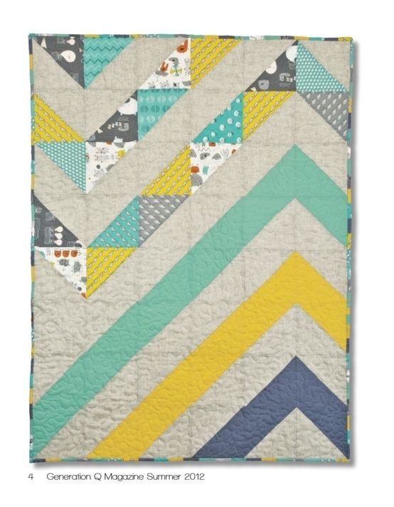 Modern Chevron Baby Quilt - simple and sharp by kaitlin