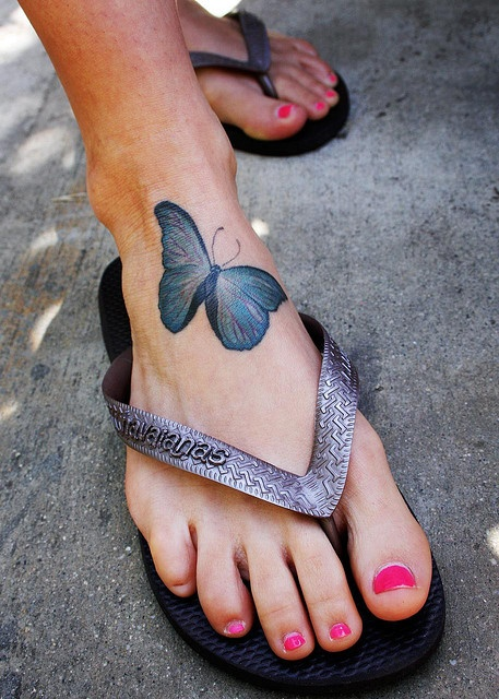 Butterfly tatoo. (In addition to the two on my foot.)