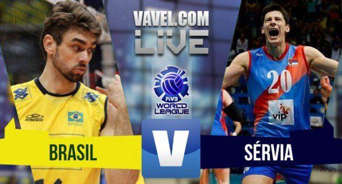 Brasil x Sérvia AO VIVO online pela Liga Mundial de Vôlei 2016 (0-1)