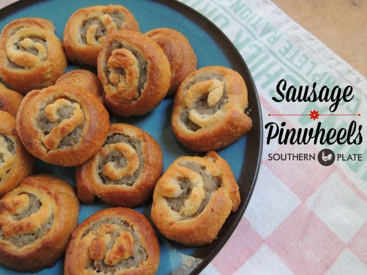 Sausage Pinwheels -one of the easiest recipes you'll ever make! http://www.southernplate.com