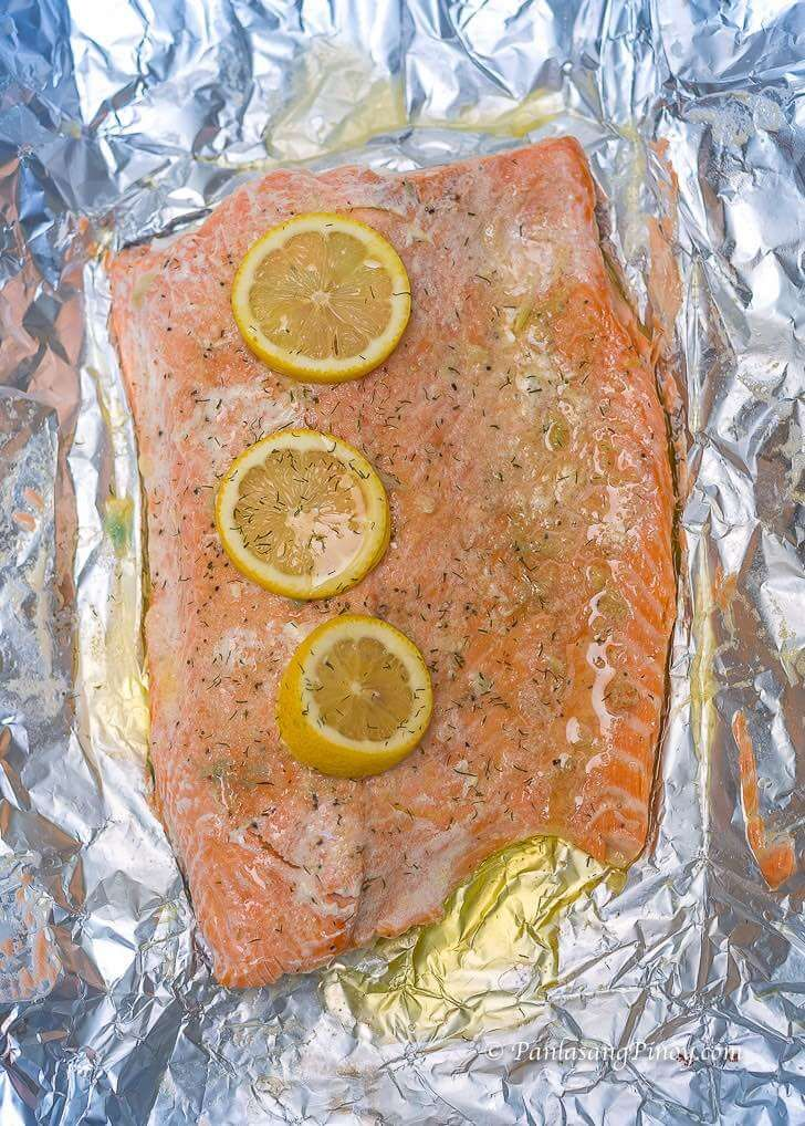 Baked Salmon With Lemon Garlic And Butter Recipe Filipino