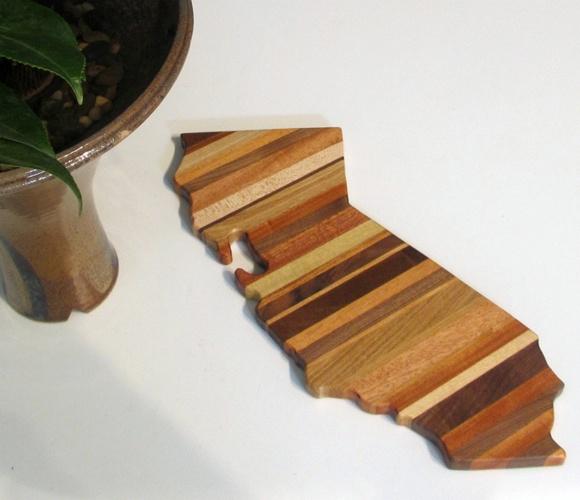 California Cutting Board: Cutting Boards, States Cut, Gifts Ideas, Kitchens Boards, California Cut, California Scrap, Woods Cut Boards, Chee Boards, Scrap Woods
