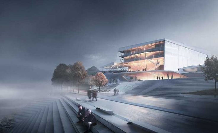 building and landscape / beethoven concert hall competition / snøhetta