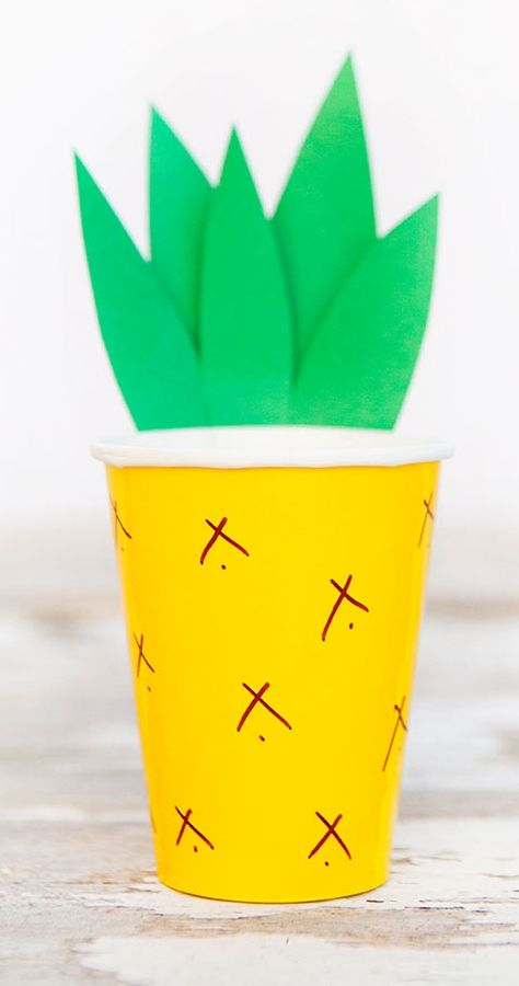 Pineapple Cups (the stem is kind of unpractical to drink from, but it looks super cute).