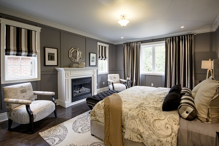 Master suite in the Cheshire model home at Fieldstone in Mono