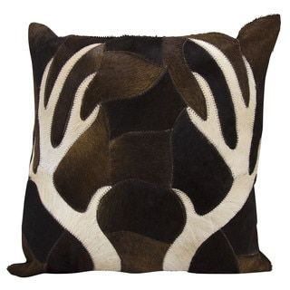Shop for Mina Victory Dallas Antler Piecework Chocolate Throw Pillow (20-inch x 20-inch) by Nourison. Get free shipping at Overstock.com - Your Online Home Decor Outlet Store! Get 5% in rewards with Club O!
