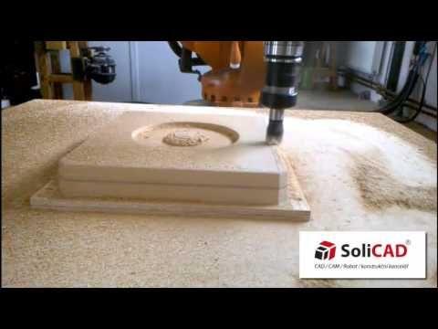 KUKA robot for milling (SprutCAM Robot for offline programming by SoliCAD integrator). www.sprutcam.com