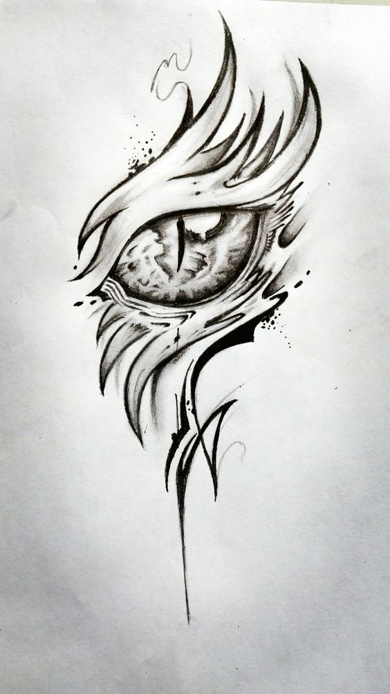44 Uniquely Tattoo Ideas For Women Dragon Eye Drawing Floral Tattoo Design Dragon Drawing