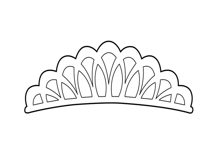 Cartoon Princess Tiara. Parts. Wiring Diagram Images