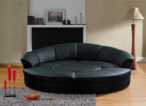 modern sofas round black leather sofa set living room fireplace