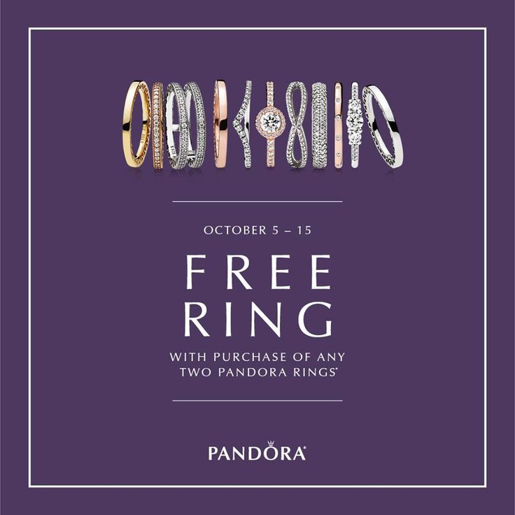 This Fall, PANDORA Jewellery invites you to Stack & Style! Shop October 5th to the 15th. Receive a FREE Ring with your purchase of any two PANDORA rings. With hundreds of styles, you're sure to find one that speaks to you.*See store for details