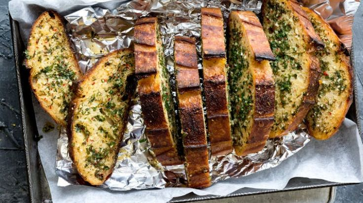 Doozy garlic bread with chilli