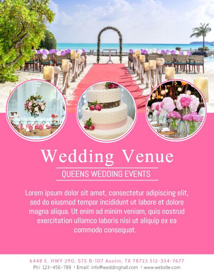 Wedding Planner Venue Advertisement Flyer Template