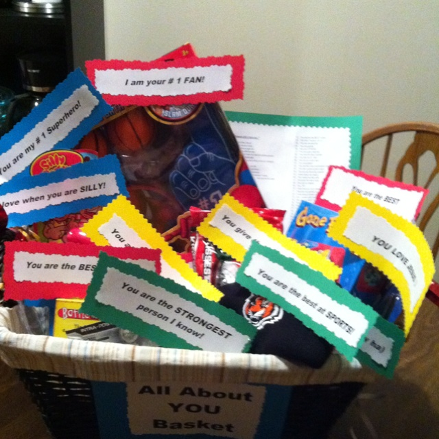 all about you basket i made for my husband on our anniversary thoughtful way to show him i love him anniversary ideas pinterest valentines
