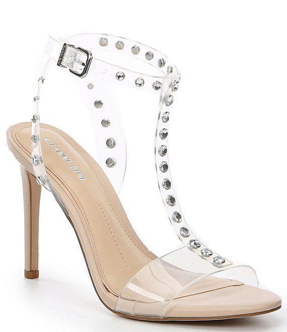 Womens Floral Pointed Toe Transparent Stilettos High Heel Shoes Sandals Pumps E7