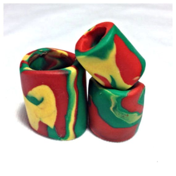Rasta Dread Beads by NoRulesBoutique on Etsy :: #dreadstop