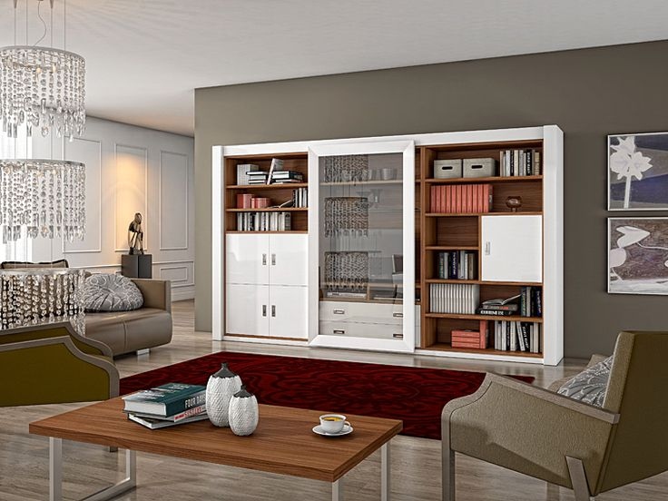 Mueble de Tv y Libreria Moderna Osprey   Material: DM Densidad Media   Mueble realizado en DM y MelaminaExiste la posiblidad de realizar el mueble en diferente color de acabado, ver imagen de galeria... Eur:2450 / $3258.5