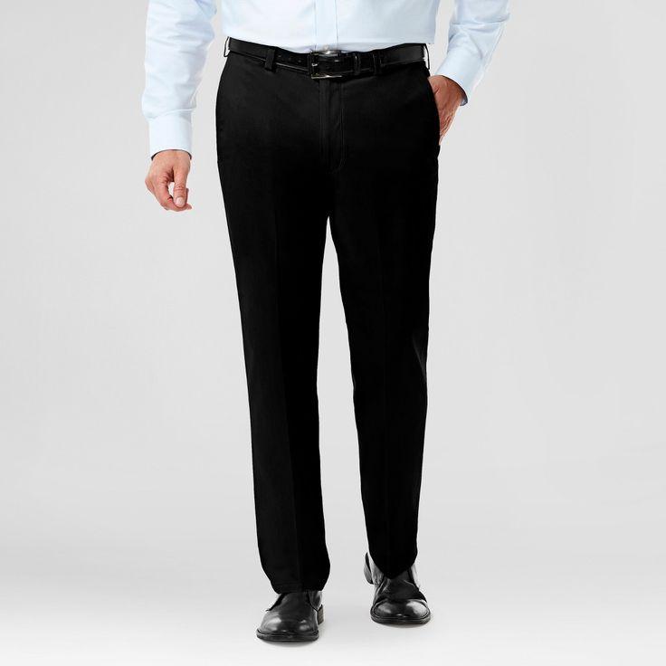 Haggar H26 Men's Big & Tall No Iron Classic Fit Stretch Trouser Pants