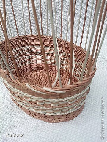 Мастер-класс Поделка изделие Плетение корзинка и МК загибки Трубочки бумажные фото 4
