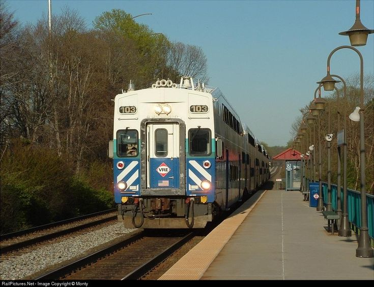 RailPictures.Net Photo: VRE V103 Virginia Rail Express (VRE) Bombadier Cab Car at Burke, Virginia by Monty