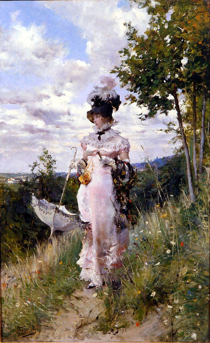 Giovanni Boldini - The summer stroll (1873)