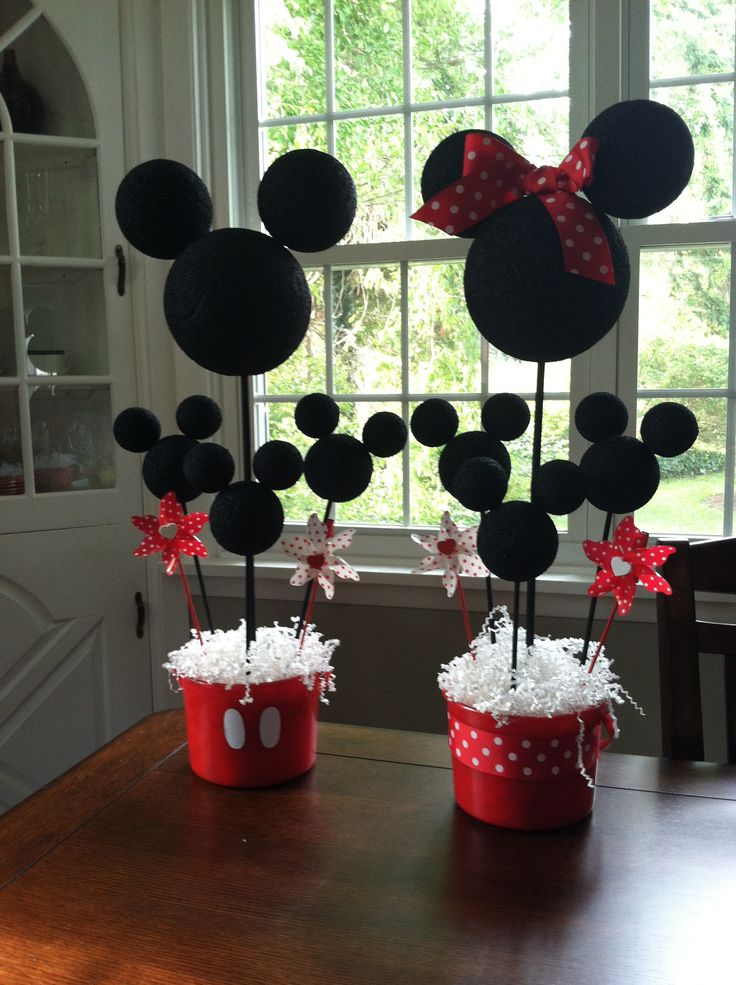 Mickey and Minnie Mouse Centerpieces - DIY