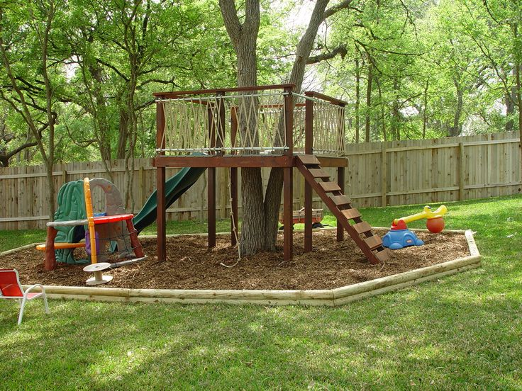Kid's Tree Deck Cool Take On A Tree House Could Also Attach To
