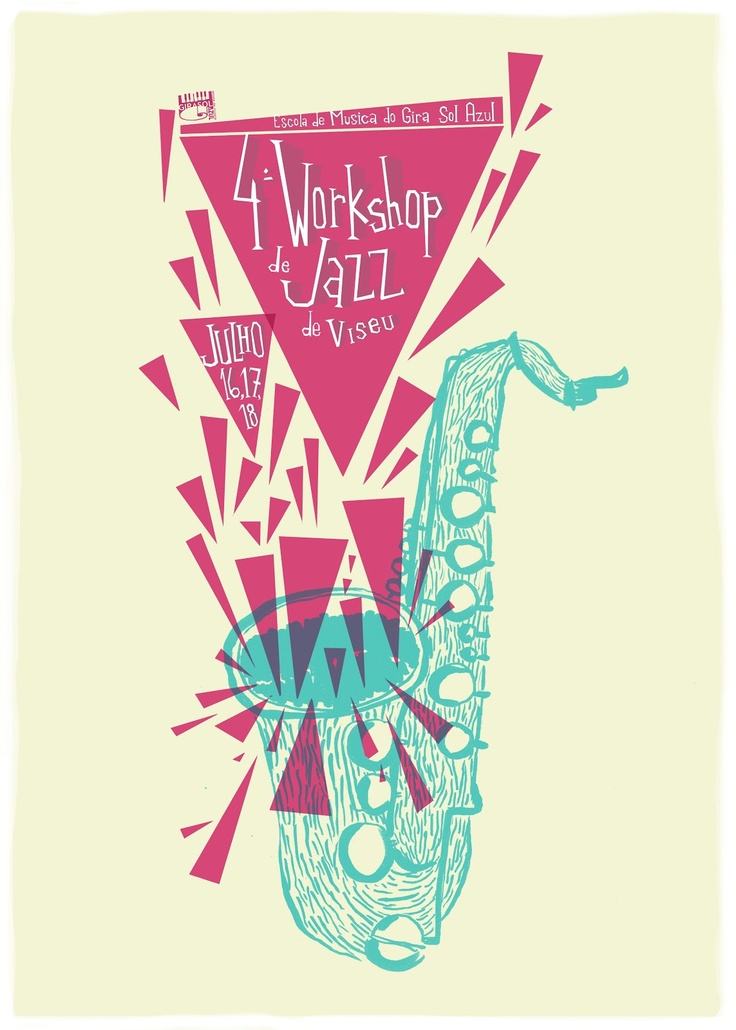 Gira sol azul, cartaz da escola de jazz de Viseu