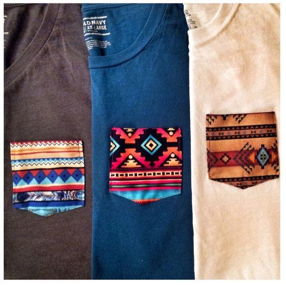 Coudre une poche sur un tee-shirt