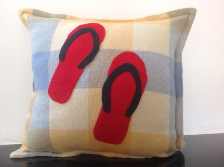 Old blanket jandal cushion