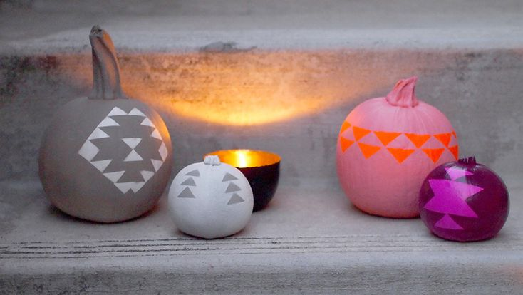 DIY geometric pumpkins by happymundane.com | definitely doing this next year!