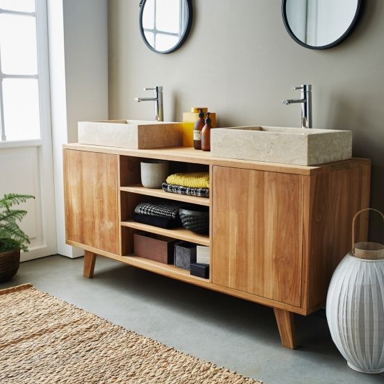 Les 25 meilleures id es concernant salle de bain teck sur for Remplacer carrelage salle de bain