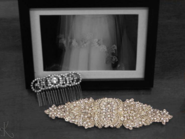A beautiful belt and a brooch to complete your dream dress. #Karleofashion #Karleobrides #weddingbelts #weddingbrooches