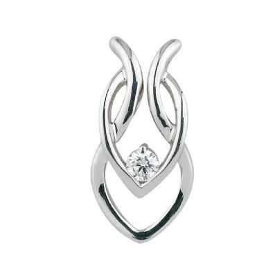 Diamond solitaire pendant.