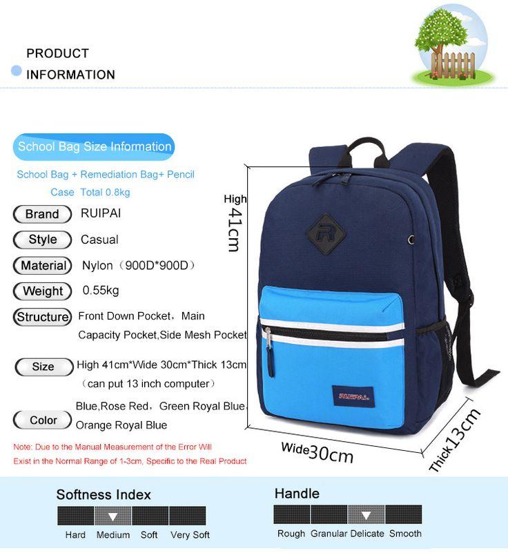 Set 3PCS Backpack For School Pencil Case Backpack Schoolbag Children's School Bags Kids Baby's Student Rucksack Bags , https://kitmybag.com/ruipai-1-set-3pcs-backpack-for-school-pencil-case-backpack-schoolbag-childrens-school-bags-kids-babys-student-rucksack-bags/ ,