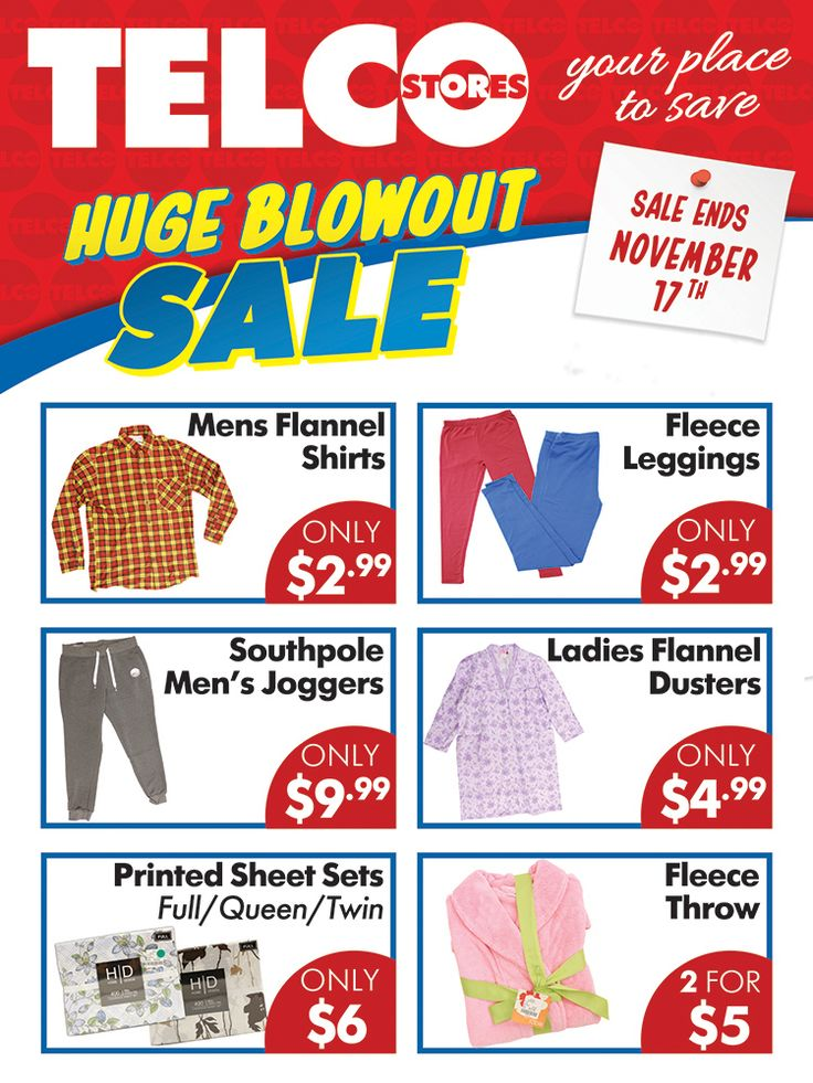 HUGE BLOWOUT SALE!!! All Telco locations! These items plus MANY MORE!! #telco #telcostores #blowoutsale #sale #NY