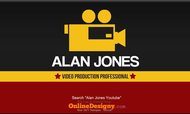 Videographer (video coverage studio) sample business card template