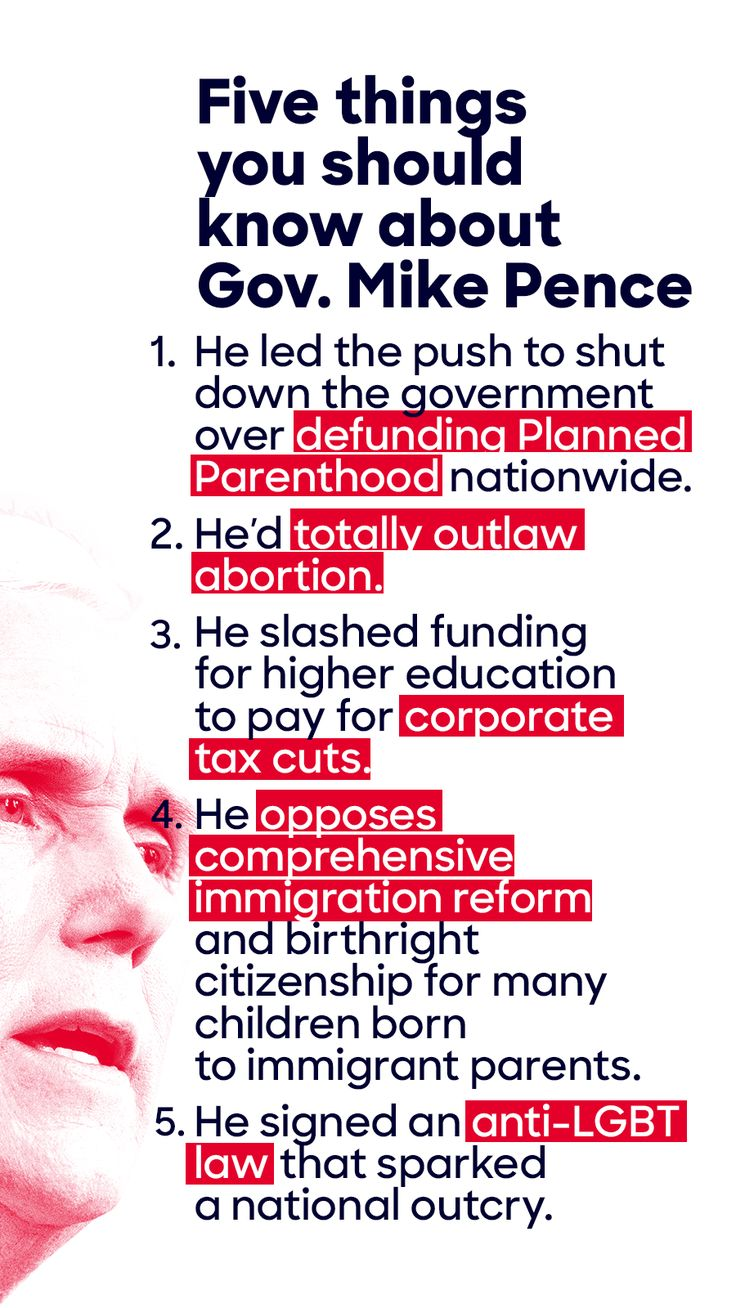 Get to know Trump's VP pick, Mike Pence: current governor of Indiana and potential disaster for America.