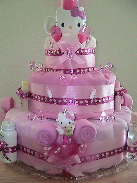 hello kitty diaper cake hello kitty friends pinterest