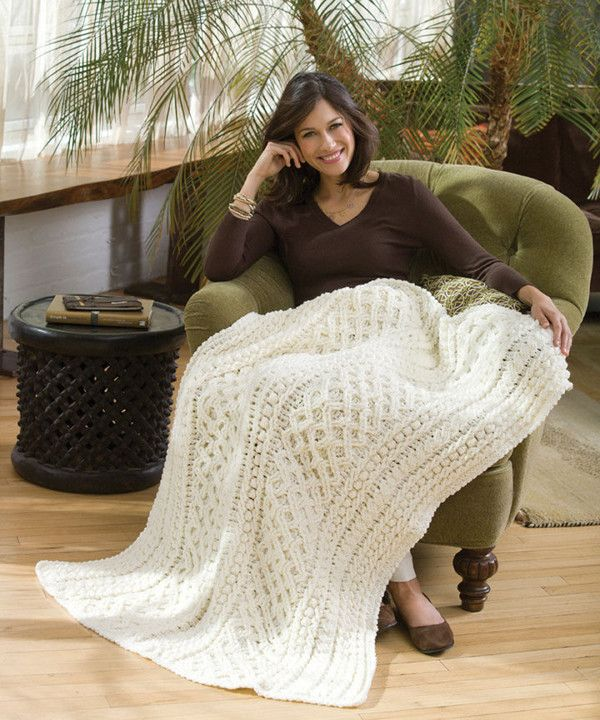 28 Best Crochet Cable Blankets Images On Pinterest Knitted Afghans