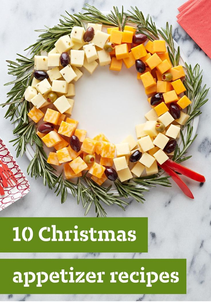 10 Christmas Appetizer Recipes — Planning your Christmas dinner menu? Start the festivities off deliciously with a great selection of tasty Christmas appetizers. They're all here—from the simple Bacon-Cheddar Onion Dip and Easy Cheese Wreath to the delicious Fig-Proscuitto Crostini and Cheesy Asiago-Herb Bread. You're sure to find the right holiday hors d'oeuvres for your get-together right here in this collection. #christmas #appetizers #recipes #holidayparty
