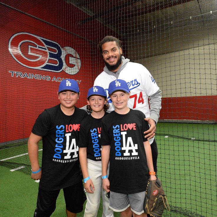 Both Kenley Jansen and Nomar Garciaparra joined the Dodgers Community Tour yesterday afternoon by hosting a skills clinic for RBI youth at GBG Training Academy in Inglewood.