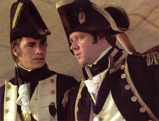 James D'Arcy and Russell Crowe in Master and Commander: The Far Side of the World
