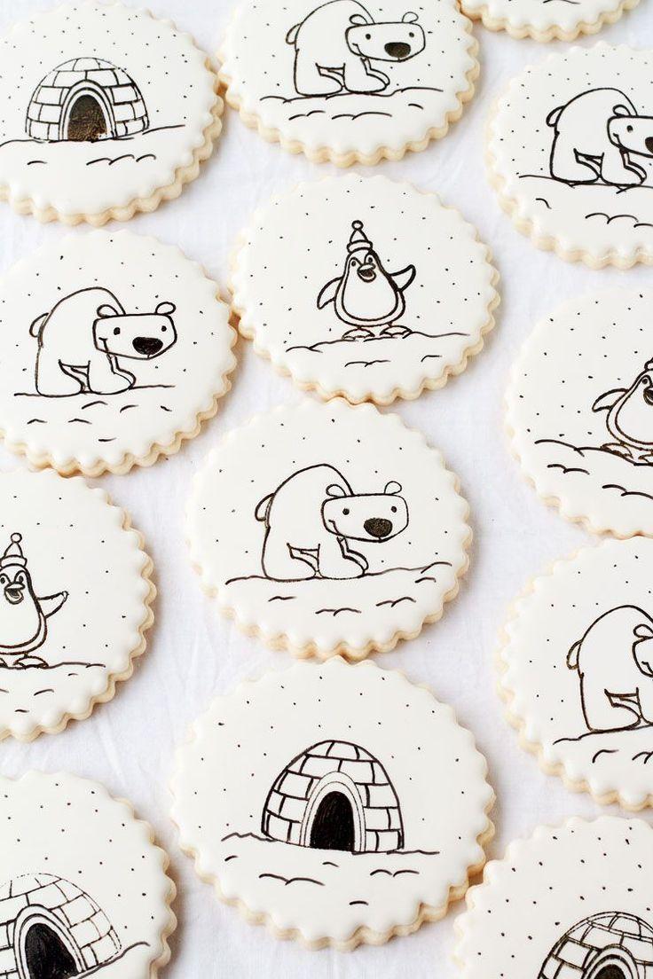 Stamped Winter Cookies.