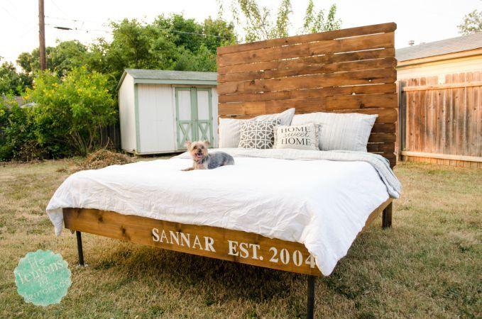 A Full Tutorial to make this awesome DIY Cedar Bed Frame