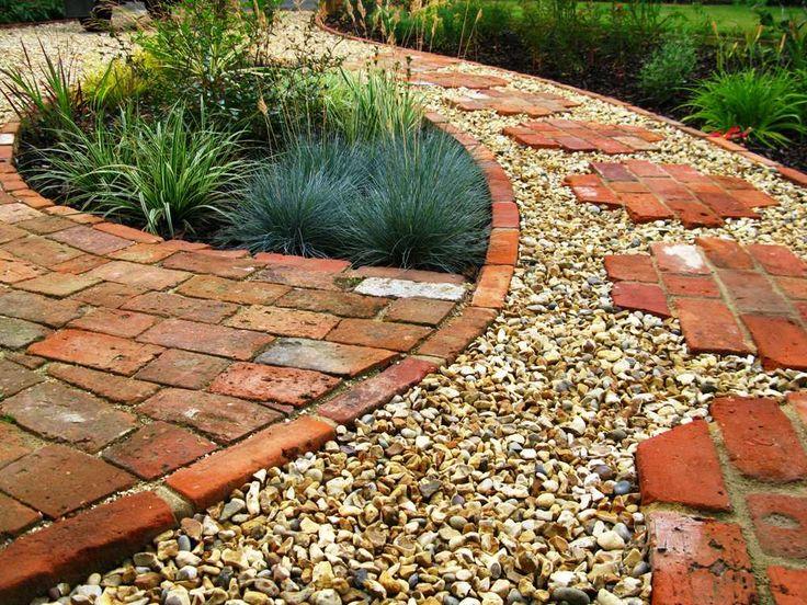 17 mejores ideas sobre camino de ladrillo en pinterest for Camino de piedras para jardin