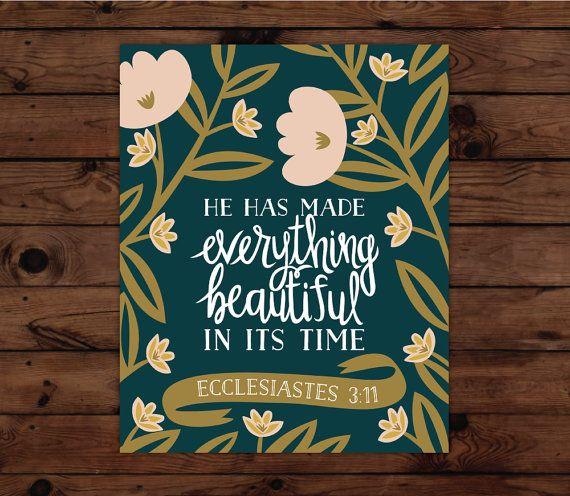 Ecclesiastes 3:11 Print by FrenchPressMornings on Etsy