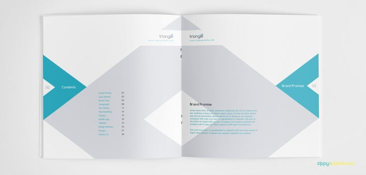 Download template for making a brand identity guidelines manual easily. Just put in your customizations and content and you are done with it.